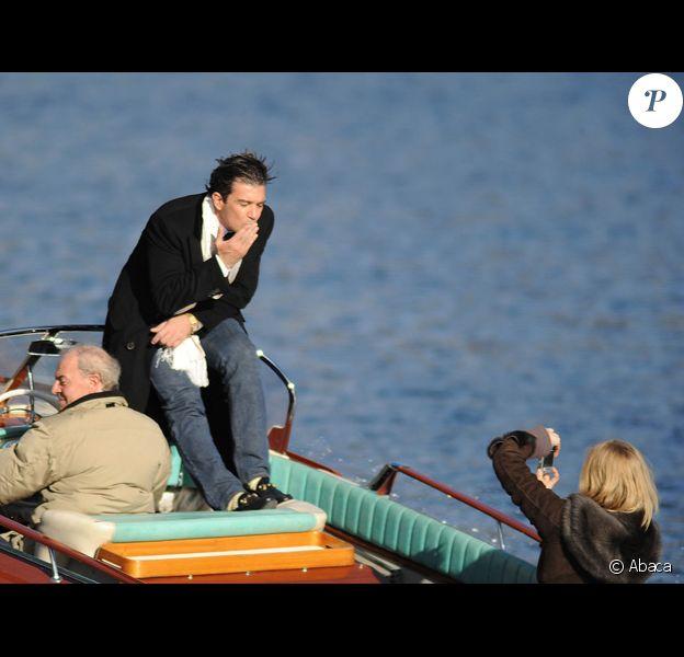 Antonio Banderas sur le tournage de son dernier film...