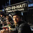 Justin Timberlake lors du Téléthon pour Haïti à Los Angeles le 22 janvier 2010.