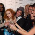 lors du défilé de Ylan Anoufa, le 27 janvier 2010 au Jazz Club Etoile de l'Hotel Méridien Etoile.