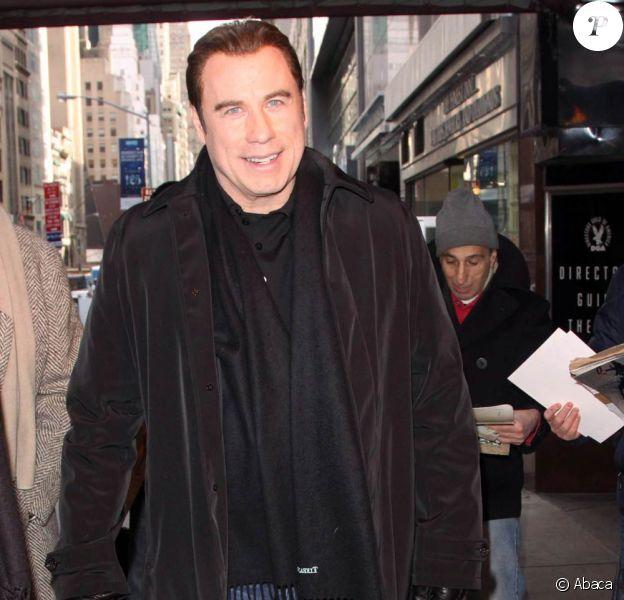 John Travolta en promo pour From Paris with Love, à New York, le 29 janvier 2010