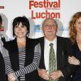 Claude Chabrol entouré de son jury à l'occasion de la cérémonie d'ouverture du 12e Festival de Luchon, le 3 février 2010.