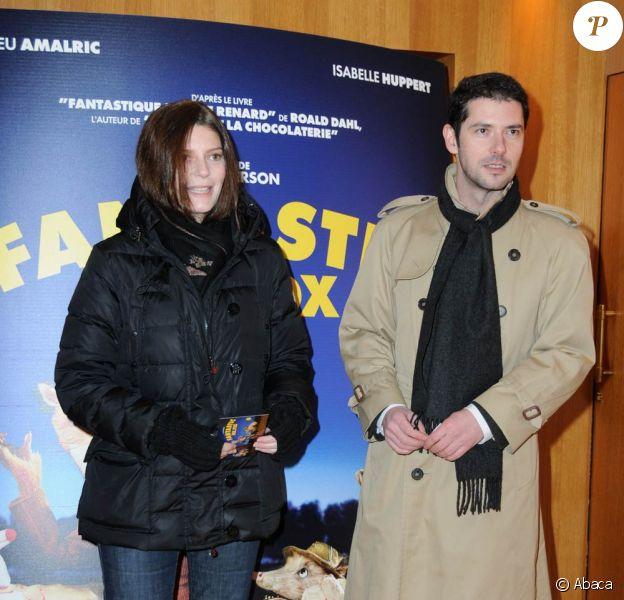 Chiara Mastroianni et Melvil Poupaud, à l'occasion de l'avant-première de Fantastic Mr. Fox, au cinéma L'Arlequin, à Paris, le 11 février 2010.