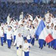 La délégation française, lors de la cérémonie d'ouverture des jeux olympiques de Vancouver, 12 février 2010 !