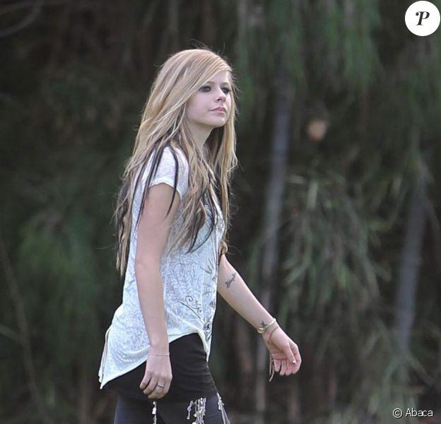 Avril Lavigne, mercredi 27 janvier, sur le tournage du clip Alice, à Los Angeles.
