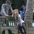 Avril Lavigne, mercredi 27 janvier, sur le tournage du clip  Alice , à Los Angeles.