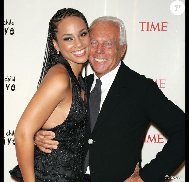 Alicia Keys et Giorgio Armani