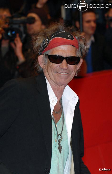 Keith Richards au festival de Berlin en février 2008