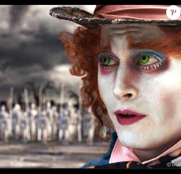 Johnny Depp dans Alice in Wonderland, de Tim Burton.