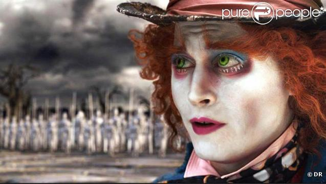 Johnny Depp dans  Alice in Wonderland , de Tim Burton.