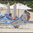 Maichael J. Fox et sa femme Tracy Pollan en vacances à Saint-Barthélemy, le 10 mars 2010 !