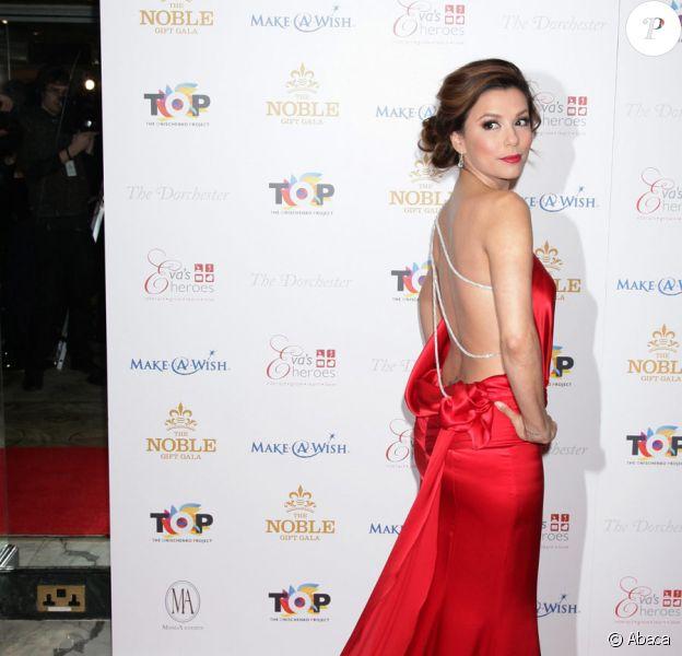 Eva Longoria au Noble Gift Gala au Dorchester Hotel de Londres, le 13 mars 2010