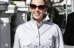 Kylie Minogue : Un album toujours en chantier, mais un look bien affûté !