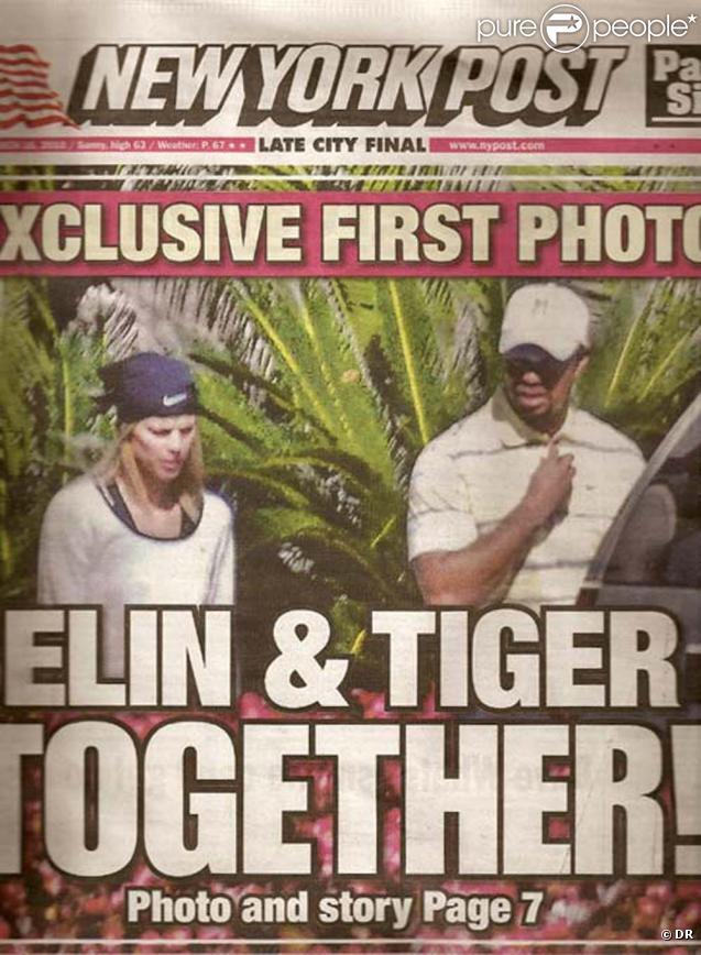 Première photo de Tiger Woods et Elin Nordegren ensemble depuis l'affaire, couverture du New York Post, mars 2010 !