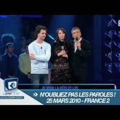 """Nagui très impressionné : Regardez, pour la première fois, la chanson à 100 000 euros dans """"N'oubliez pas les paroles"""" est gagnée !"""