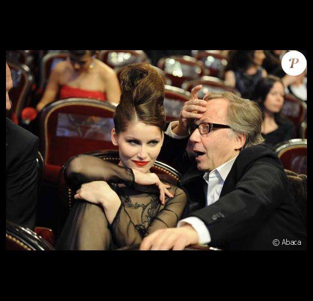 Fabrice Luchini et Laetitia Casta à la cérémonie des Césars le 27 février 2010