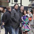 America Ferrera sur le tournage du Season Finale d'Ugly Betty (Londres, 5 avril 2010)
