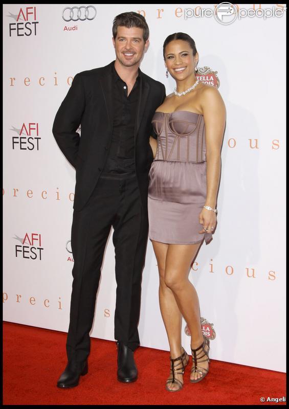 Robin Thicke et son épouse Paula Patton