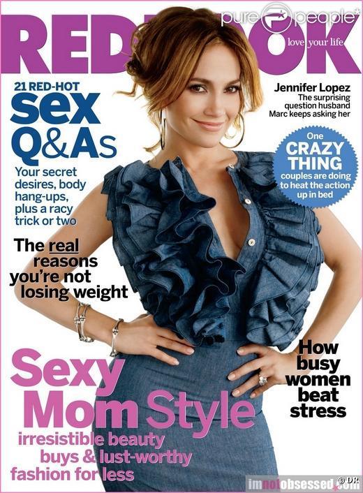 Jennifer lopez en couverture du magazine  Redbook  du mois de mai