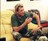 Johnny Hallyday et Lucas à l\'Olympia en juillet 2000<br />