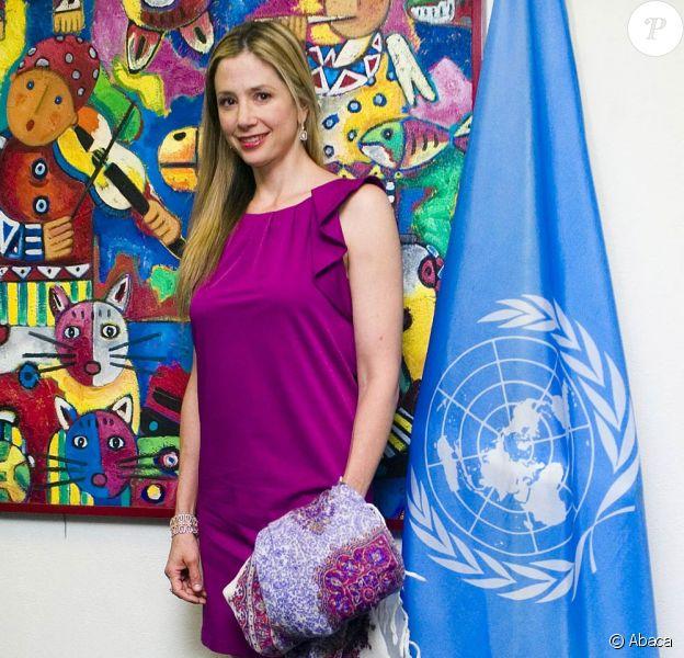 Mira Sorvino, ambassadrice de Bonne Volonté pour la campagne de lutte contre le trafic d'être humain pour l'ONU