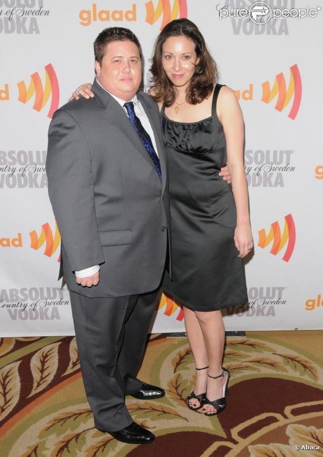 Chaz Bono et sa future épouse Jeni, à la 21e cérémonie des Glaad Media Awards, samedi 17 avril, à Century City, en Californie.
