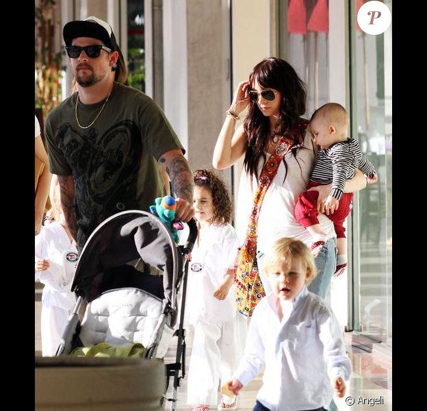 Nicole Richie en famille à Studio City
