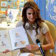 Rania de Jordanie au siège des Nations Unies à New York, le 27 avril 2010