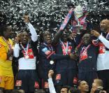 L'équipe du Paris-Saint-Germain a remporté la Coupe de France, au Stade de France, le 1er mai 2010.