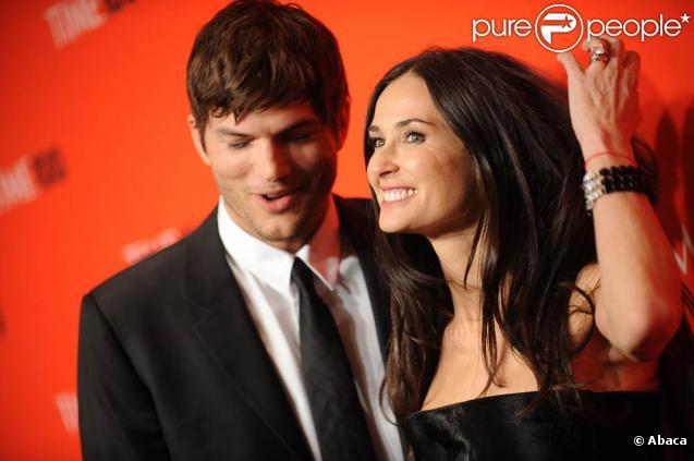 Demi Moore et Ashton Kutcher, à l'occasion de la soirée de gala organisée par le Times, qui a publié la liste des 100 people les plus influents du monde, au Lincoln Center, de New York, le 4 mai 2010.
