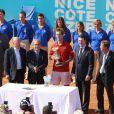 Richard Gasquet s'est imposé le 22 mai dans le tournoi de Nice, face à Fernando Verdasco, sous les yeux de Stéphane Diagana et Christian Estrosi. Sa première grande victoire depuis septembre 2007.