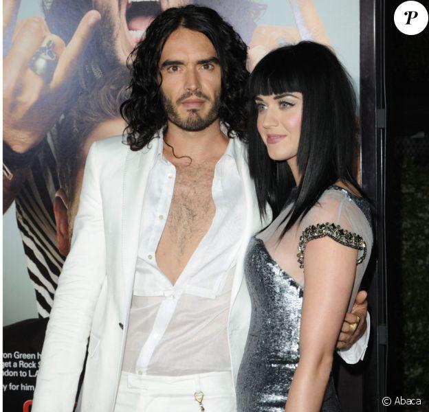 Katy Perry et Russell Brand lors de l'avant-première de Get him to the Greek à Los Angeles le 25 mai 2010