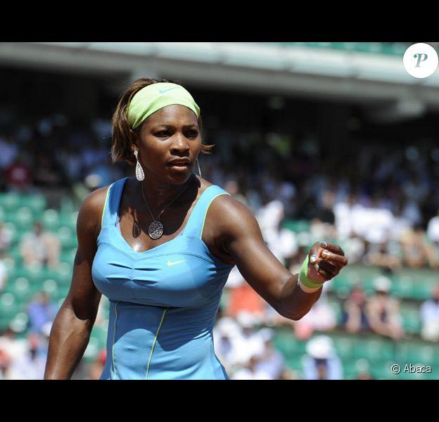 Serena Williams lors du premier tour à Roland Garros en mai 2010