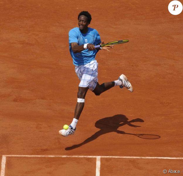 Gaël Monfils éliminé de Roland-Garros au deuxième tour, le 27 mai 2010.