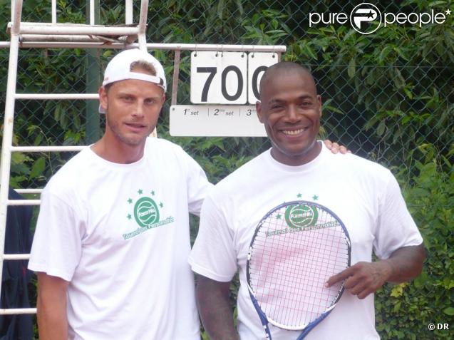 Arnaud Lemaire s'entraîne avec Lord Kossity au tournoi des personnalités 2010. 1er juin