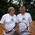 Jean-Pierre Castaldi et PPDA au tournoi des personnalités 2010. 1er juin