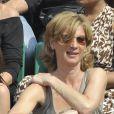 Michèle Laroque au tournoi de Roland-Garros. 2/06/2010