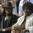 Grace Jones et sa maman au tournoi de Roland-Garros. 2/06/2010