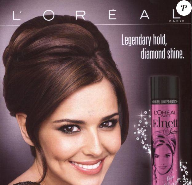 """Cheryl Cole pour l'édition limitée de la laque Elnett Diamond Hold & Shine, baptisée pour l'occasion """"Love Cheryl"""""""