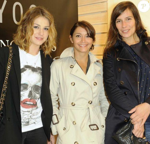 Emilie Dequenne, Emma de Caunes et Zoé Félix soirée de lancement de la collection Capsule POUR LONGTEMPS d'Ekyog et l'inauguration de la 37e boutique le 17 juin 2010 au soir à Paris au 59 rue Bonaparte !
