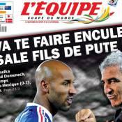 """Dérapage """"inacceptable"""" de Nicolas Anelka : Le communiqué cinglant de la FFF, la consternation du président Sarkozy..."""