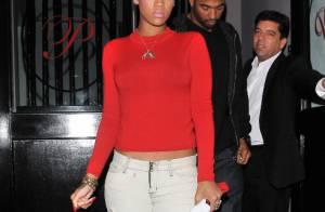 Rihanna et son amoureux Matt Kemp s'offrent une soirée... rouge passion !