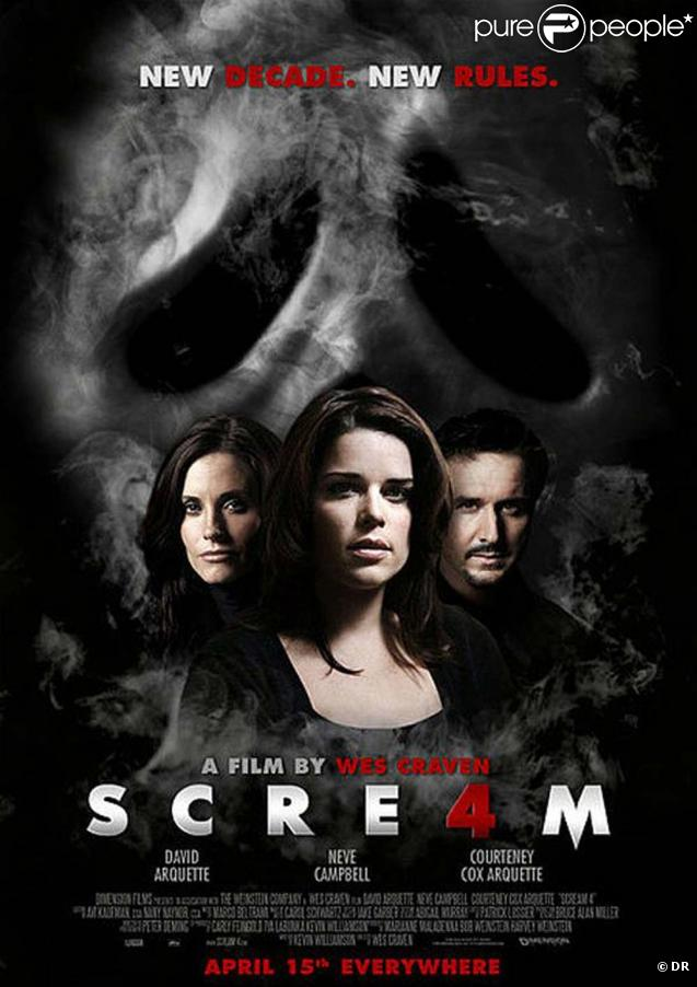Courteney Cox, David Arquette et Neve Campbell pour  Scream 4