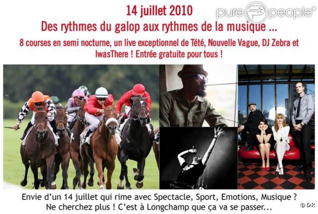 L'hippodrome de Longchamp a préparé son 14 juillet en fanfare : huit courses, des animations, des concerts avec Tété, Nouvvel Vague et DJ Zebra...