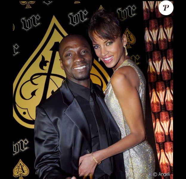 Claude Makelele et Noémie Lenoir en 2008