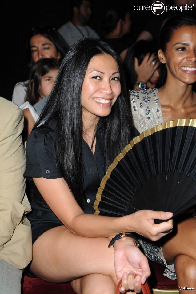 Anggun lors du défilé de Basil Soda au Grand Palais, le 6 juillet 2010 à Paris