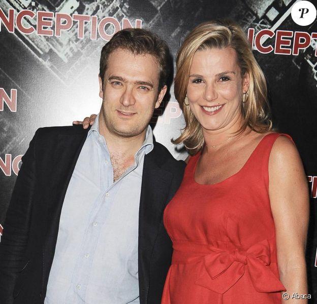 Laurence Ferrari, radieuse enceinte et son époux Renaud Capuçon à la première de Inception à Paris le 10 juillet 2010