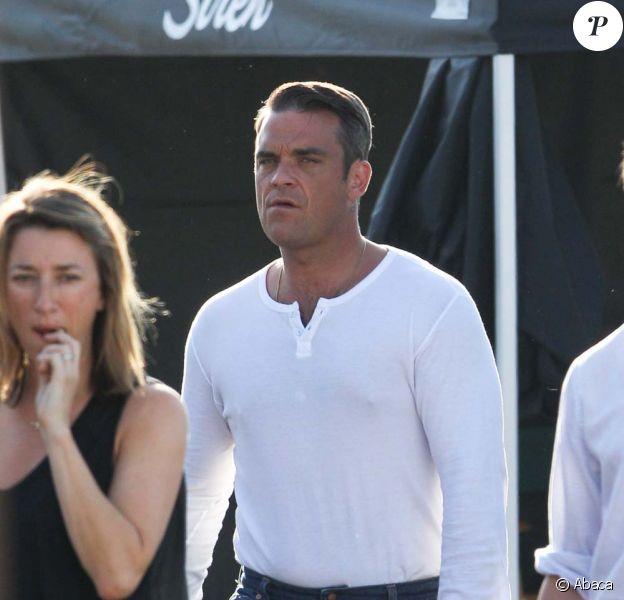 Tournage du clip Shame avec Robbie Williams et Gary Barlow, à Los Angeles, juin 2010