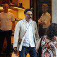 Andy Garcia avec sa femme Marivi Lorido et sa fille Dominik à Rome, le 11 juillet 2010