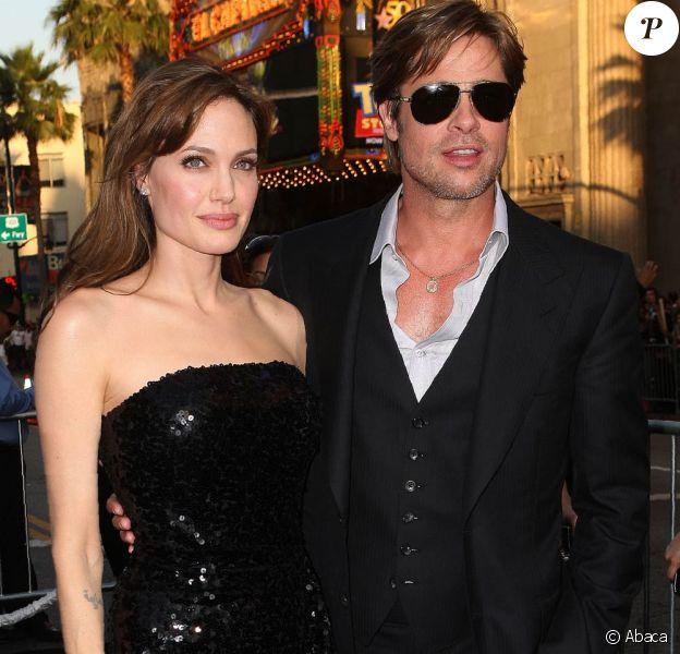 Angelina Jolie et Brad Pitt à l'occasion de l'avant-première de Salt, au Graumann's Chinese Theatre de Los Angeles, le 19 juillet 2010.
