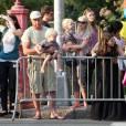 Naomi Watts et Liev Schreiber, avec leurs enfants, attendent Barack Obama à New York, dans le quartier de SoHo. 28/07/2010